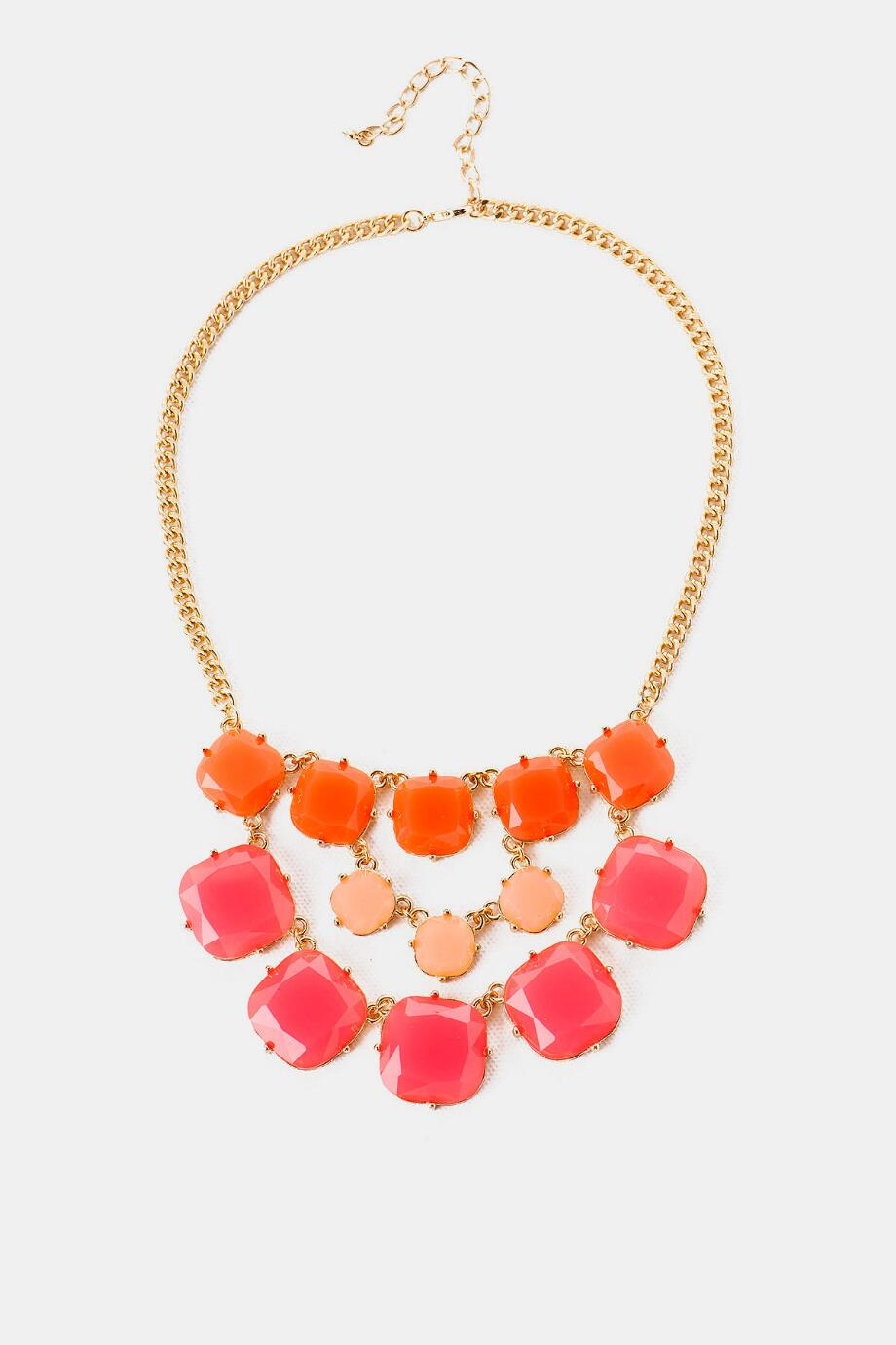 Caribbean Twist Jewel Necklace in Coral