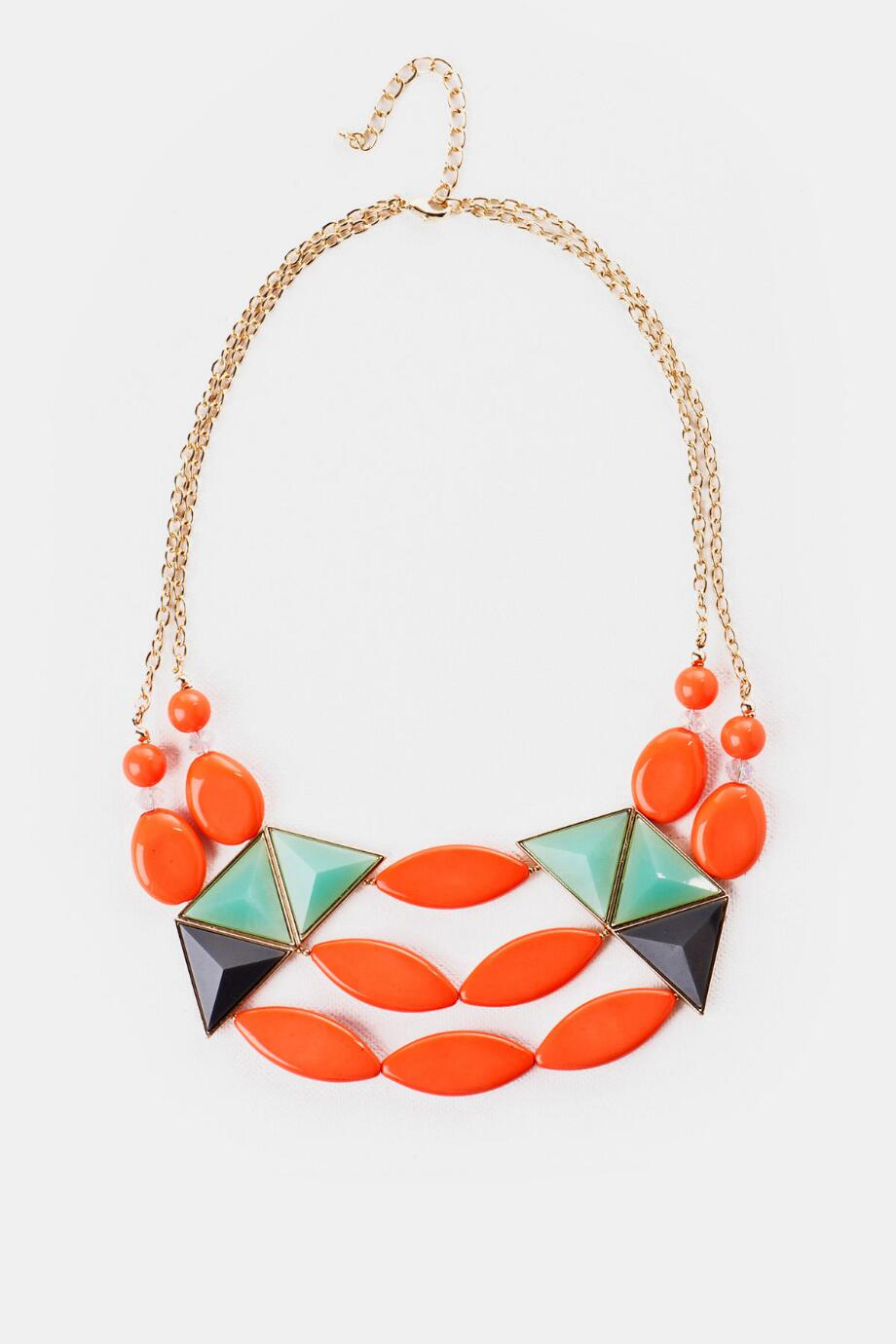 Halong Bay Crescent Necklace in Coral