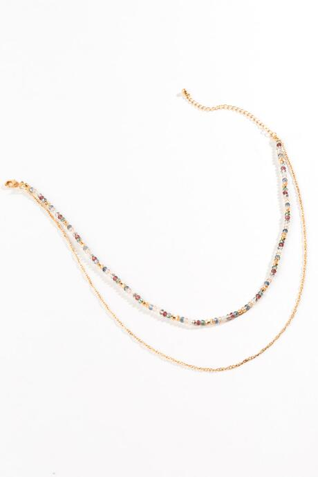 Adriana Beaded Layered Necklace - Multi