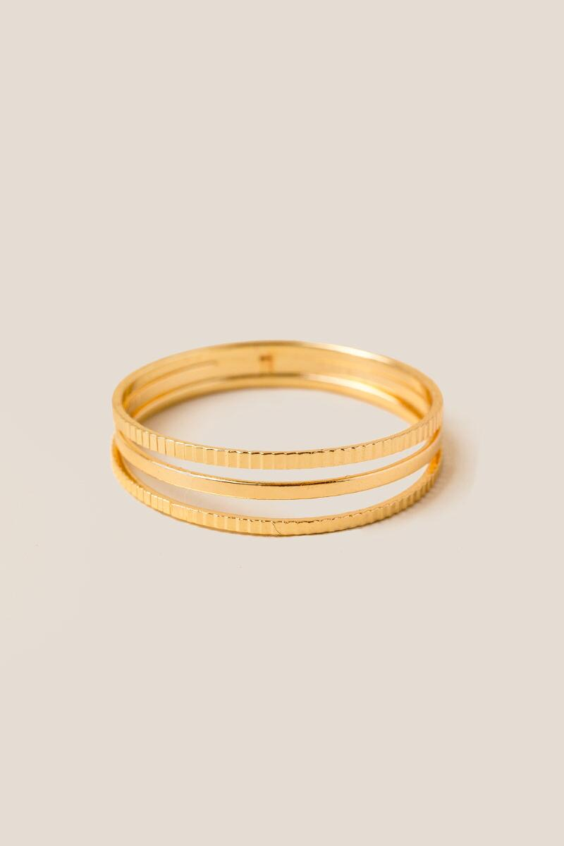 Areli Triple Band Gold Ring