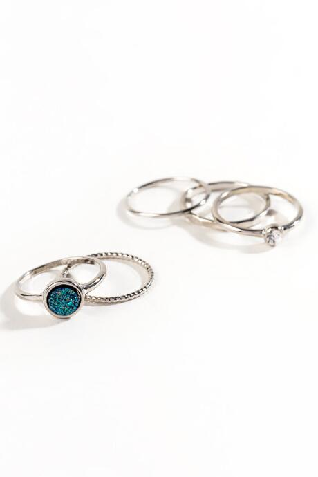 Alice Stackable Druzy Ring Set