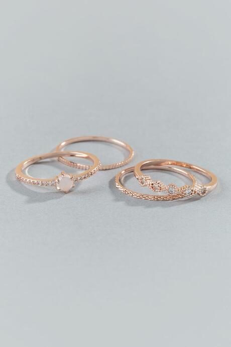 Londyn Rose Gold Stacking Ring Set