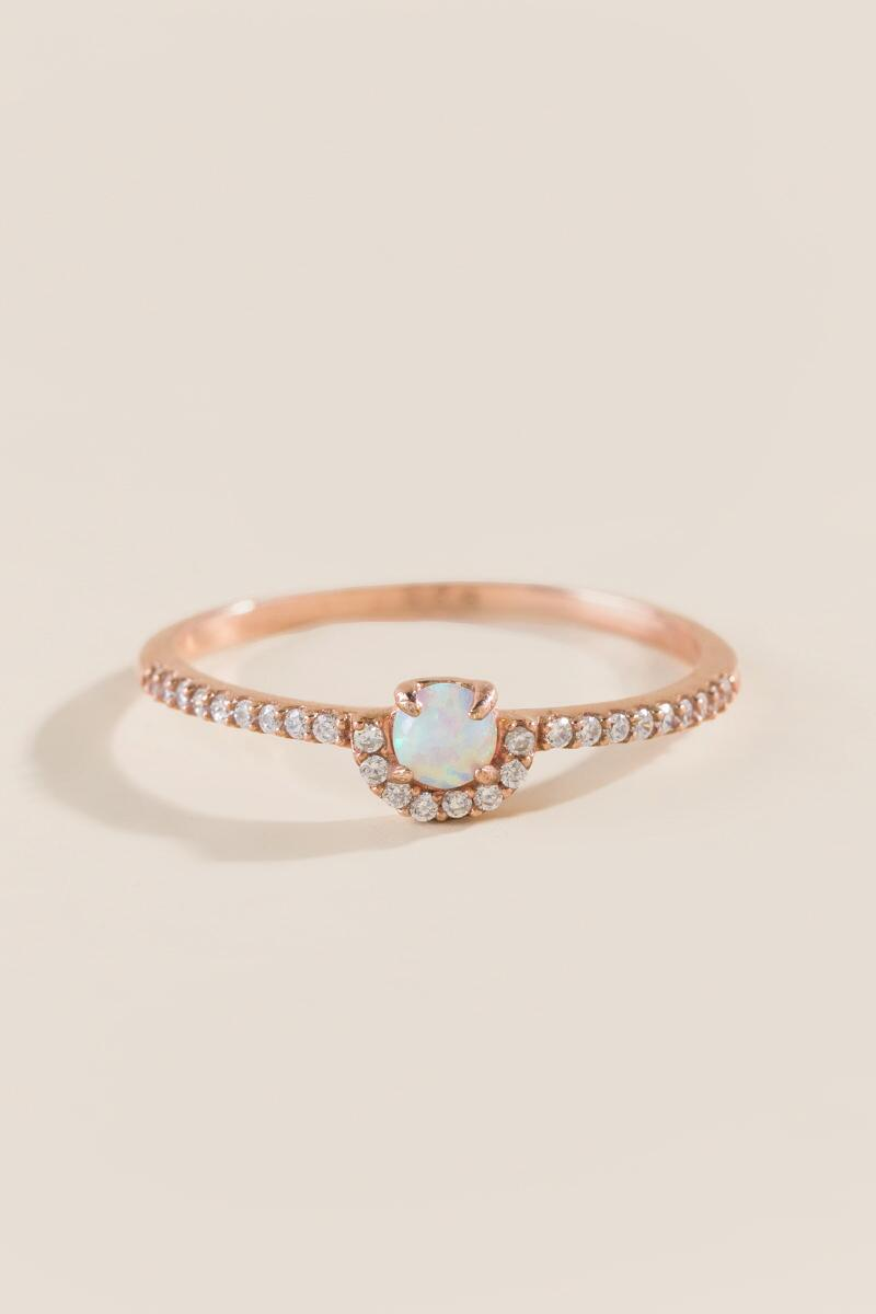 Cassie Opal Rose Gold Ring