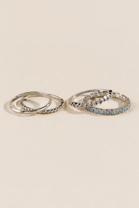 Everly Crystal Ring Set