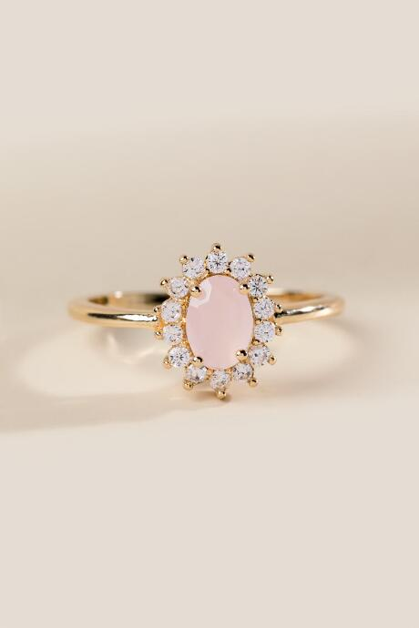 Sabira Pale Pink Crystal Ring