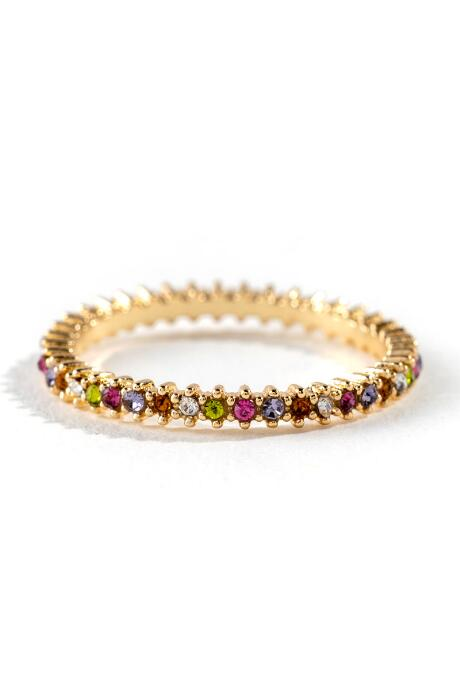 Michelle Pavé Multi Color Ring