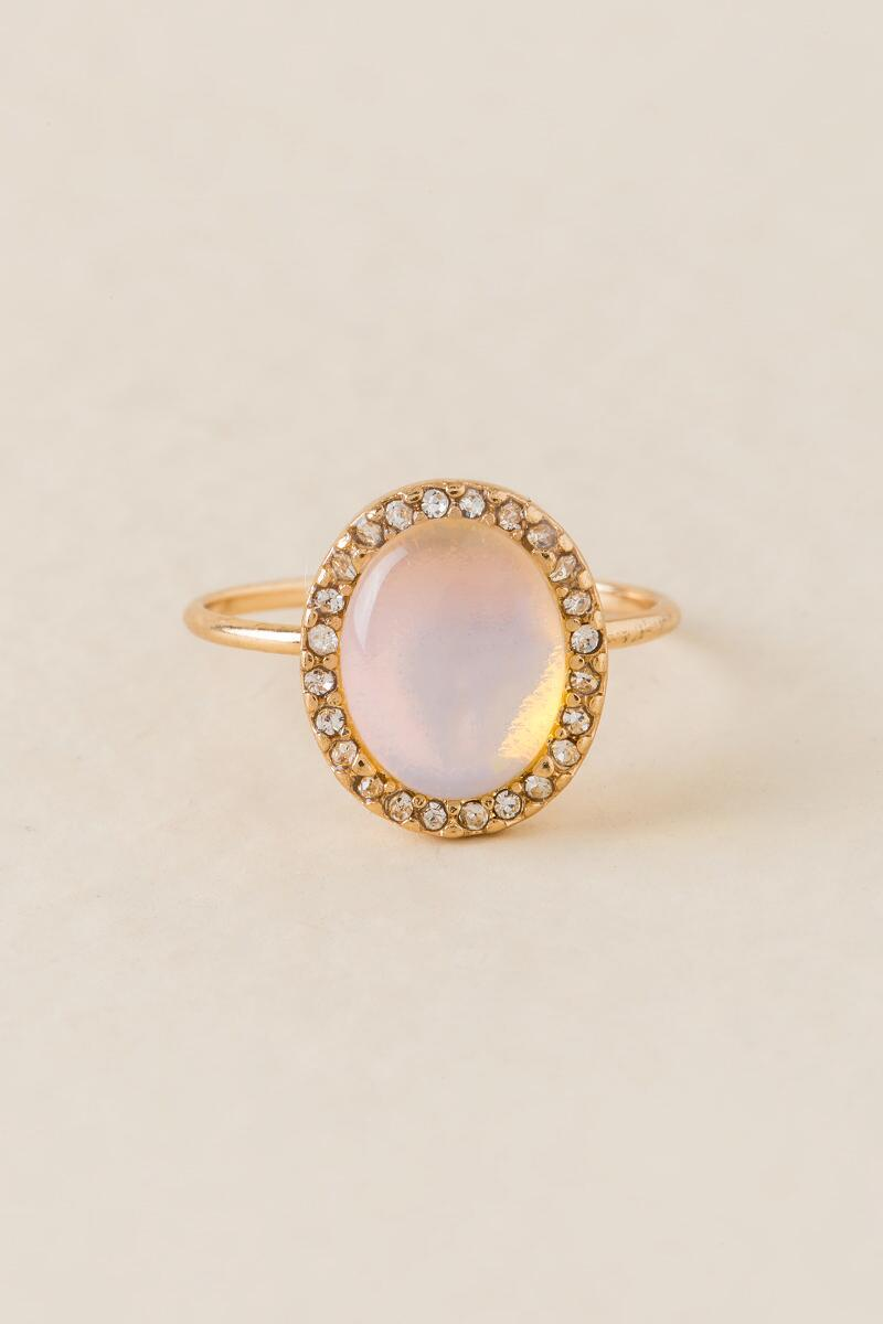 Julia White Opal Ring-  white-cl
