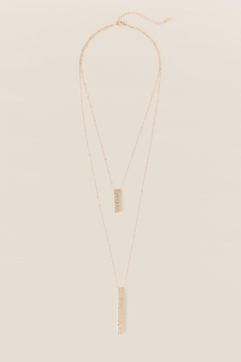 Pierce Layered Necklace-  gold-cl