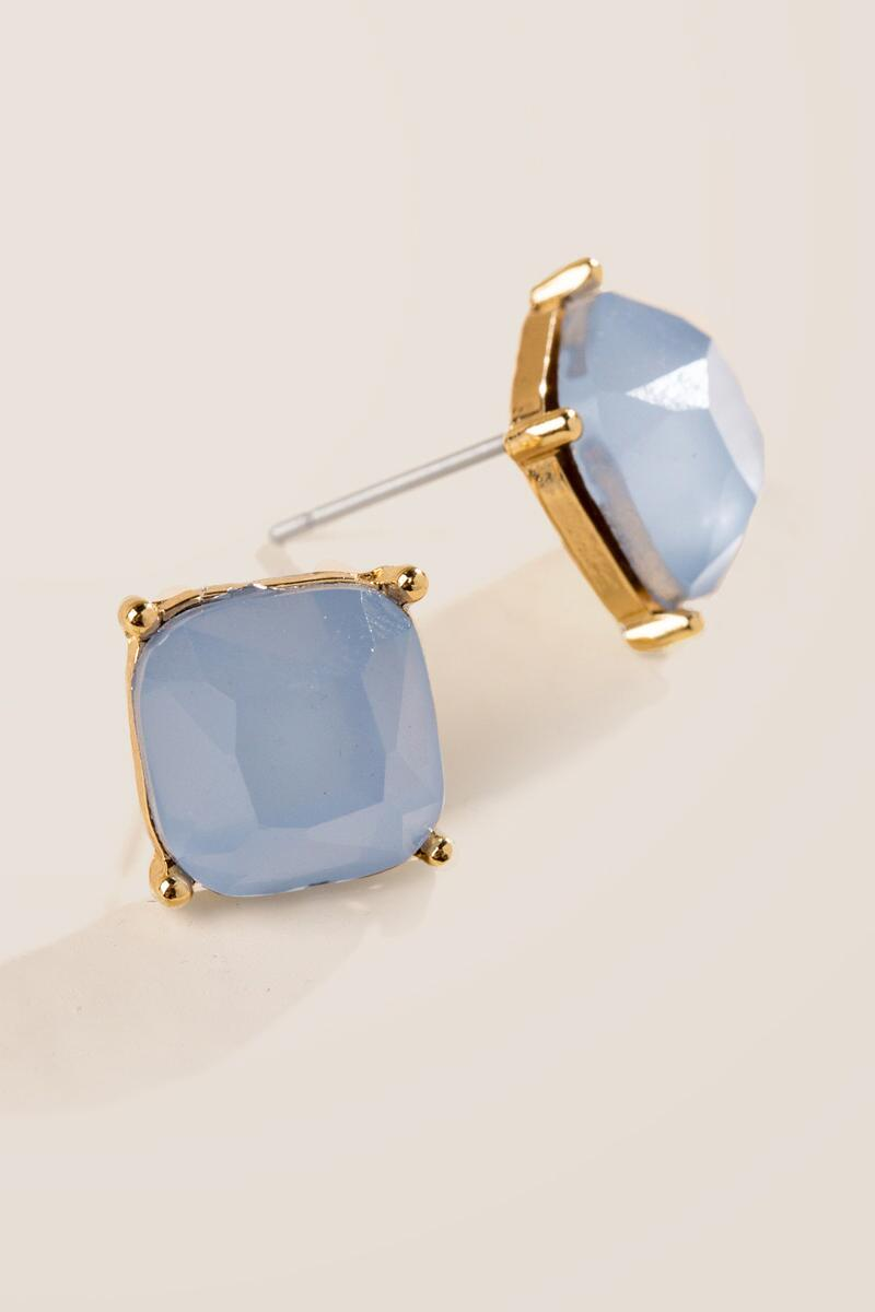 Leeland Faceted Square Studs