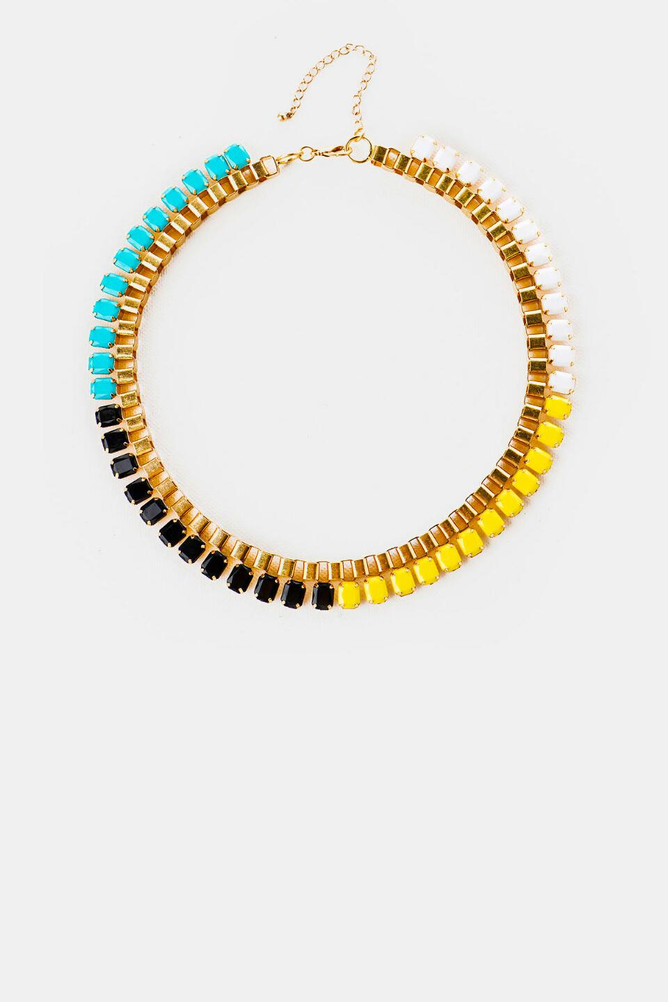 The Strip Colorblock Necklace-  multi-cl