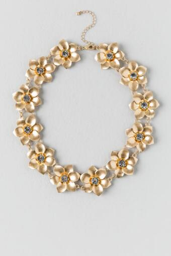 Desiree Flower Linked Necklace