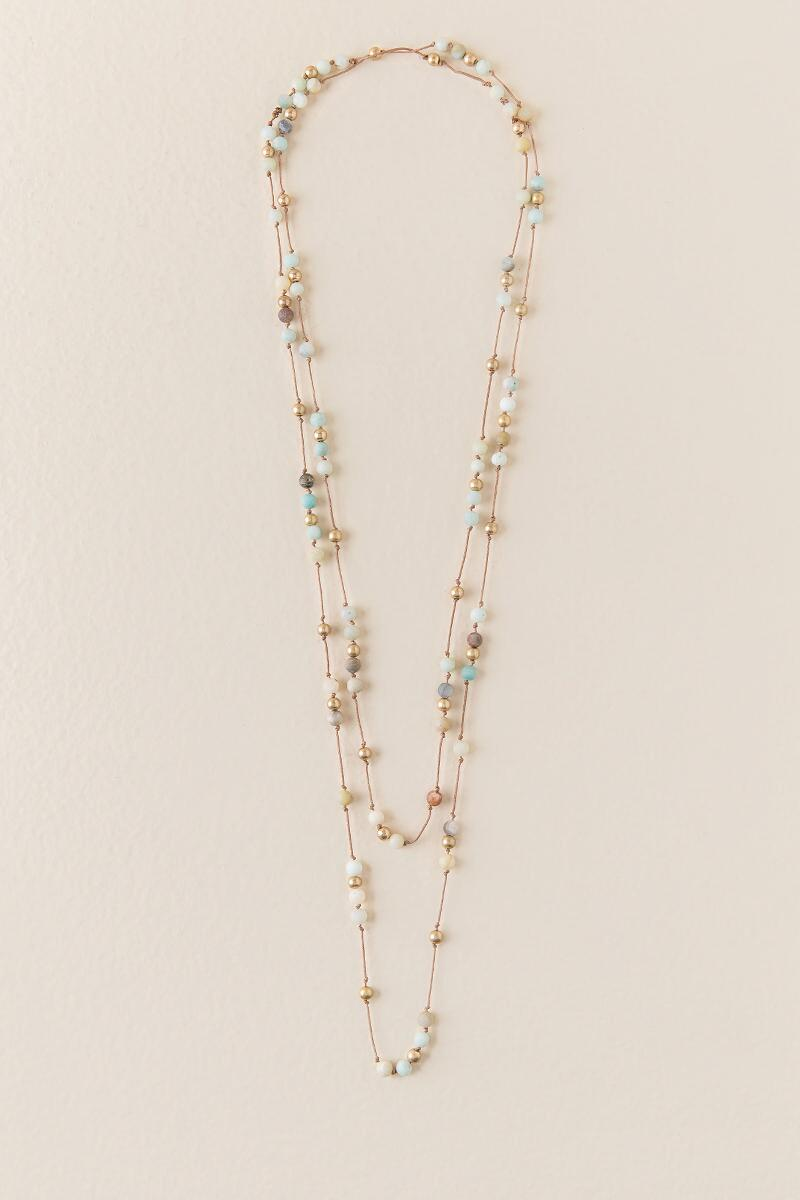 Dina Beaded Wrap Necklace