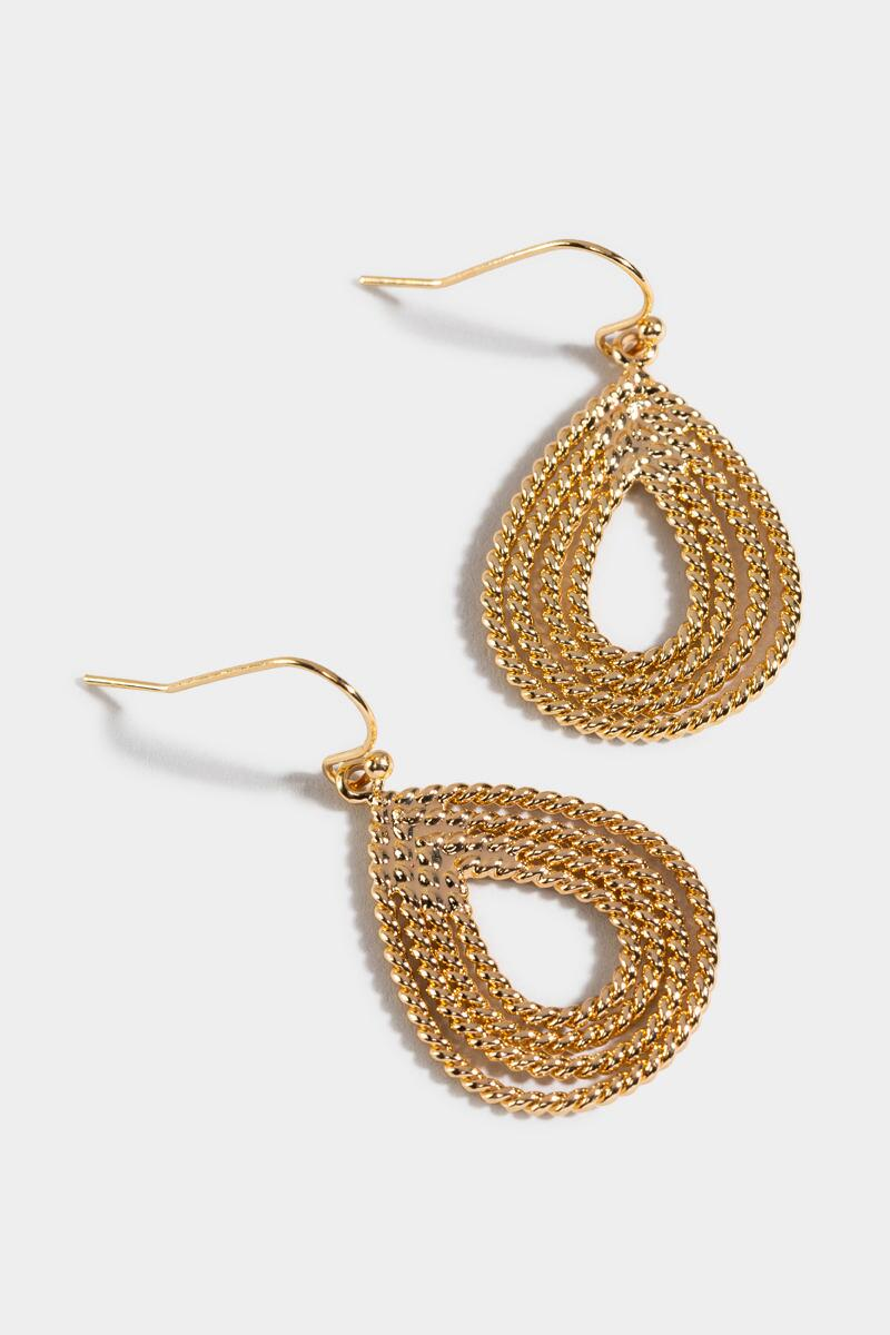 Anika Twisted Teardrop Earrings-  gold-cl