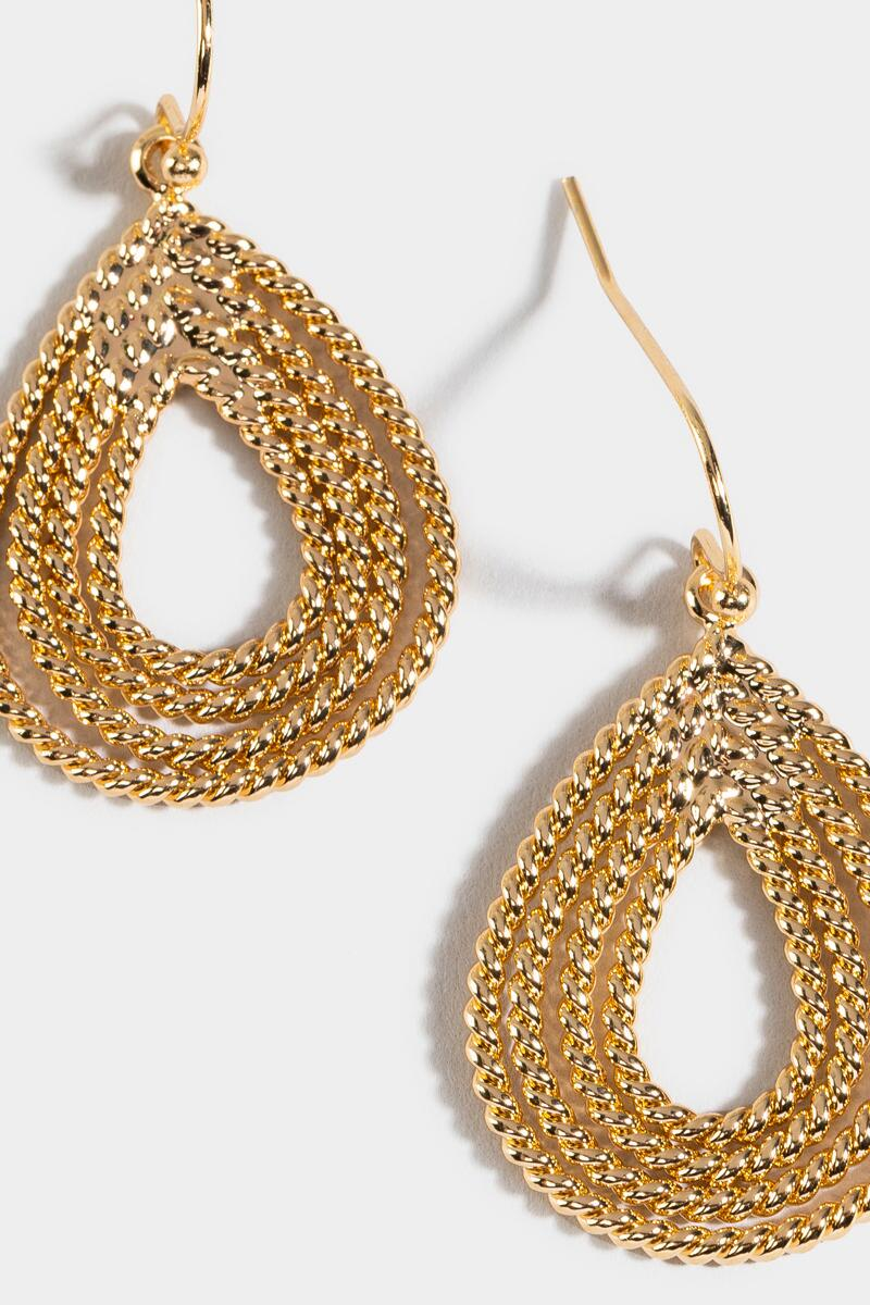Anika Twisted Teardrop Earrings-  gold-cl3
