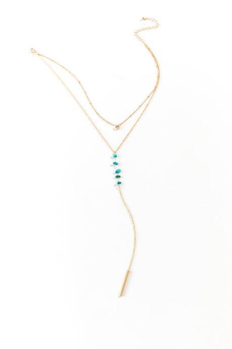 Joselyn Turquoise Layered Y Necklace