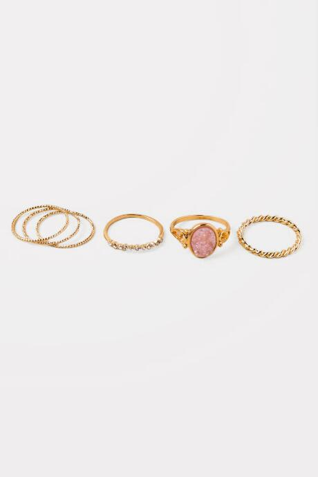 Hailey Set of 6 Druzy Ring Set