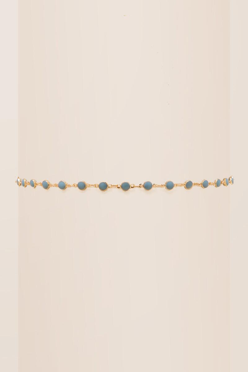 Darcy Delicate Choker-  turq-cl