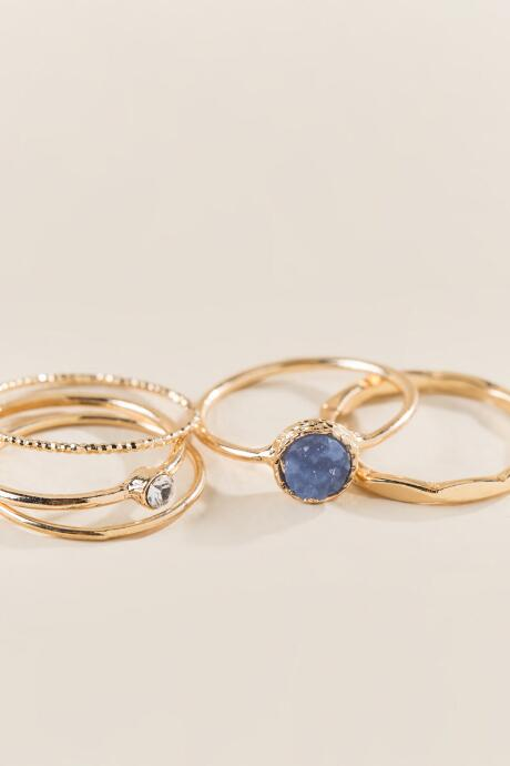 Zoe Druzy Stacking Ring Set