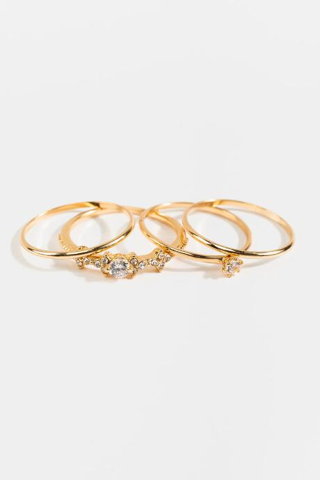 Angie CZ Cluster Rings In Gold