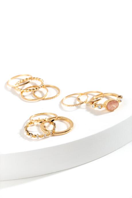 Ellodie Multi Textured Ring Set