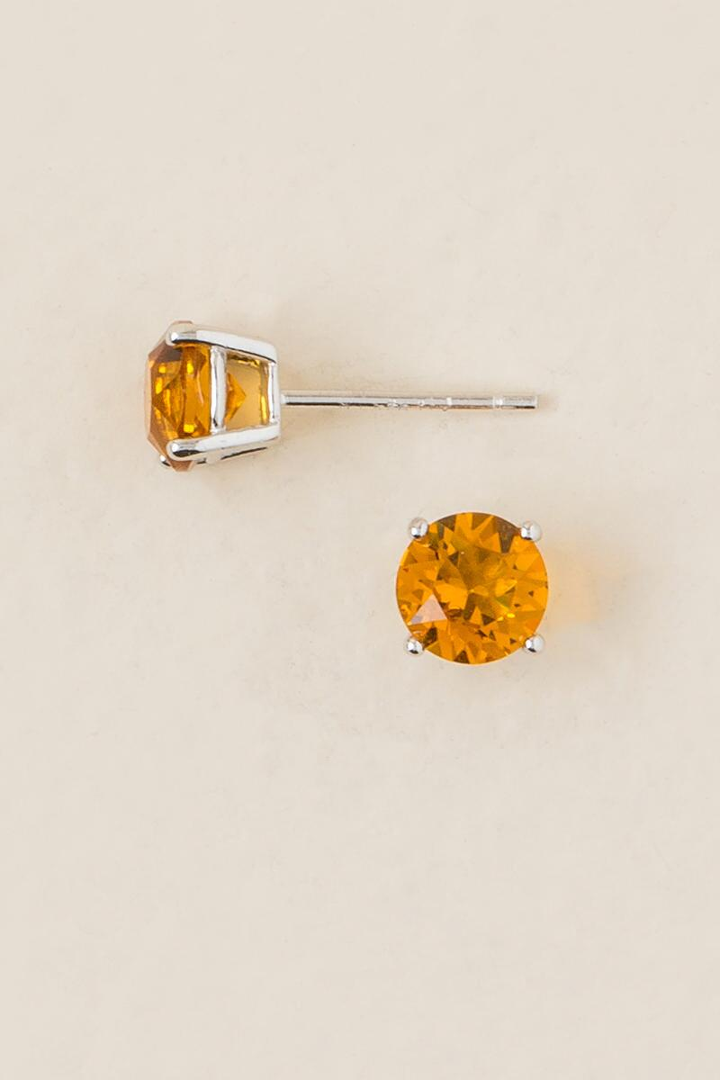 November Birthstone Stud Earrings-  yllw-clalternate