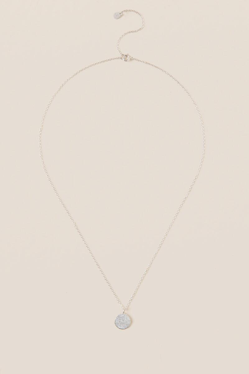Jordon Medallion Necklace-  silv-clalternate