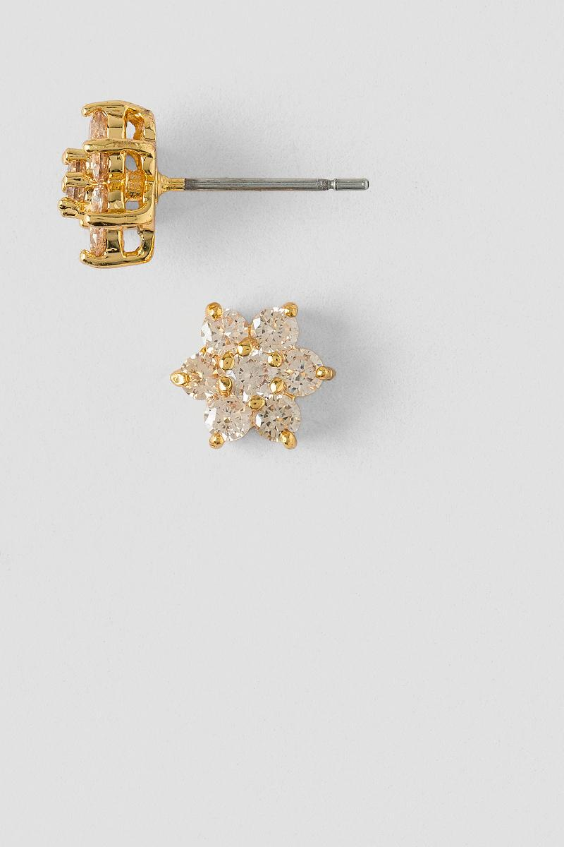 Carrie Cubic Zirconia Flower Stud-  peac-cl