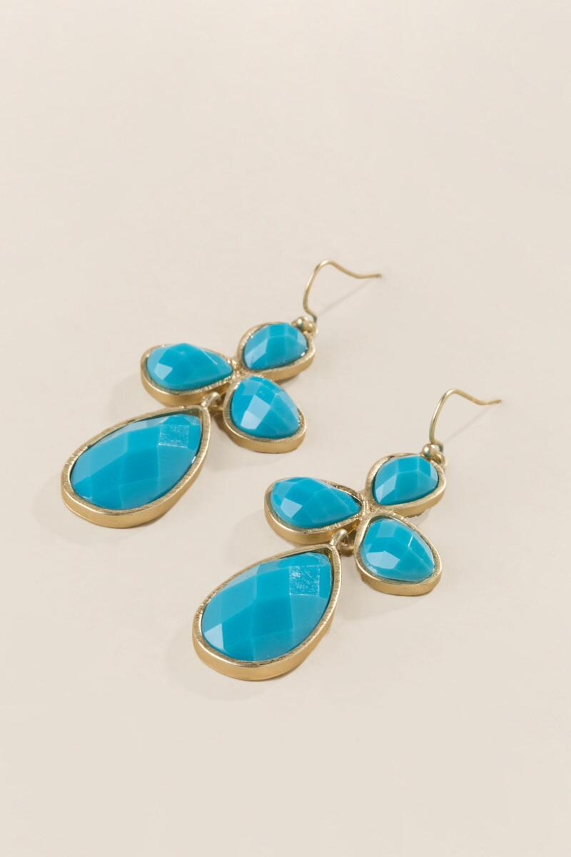 Madelyn Chandelier Earring In Turquoise-  turq-clalternate