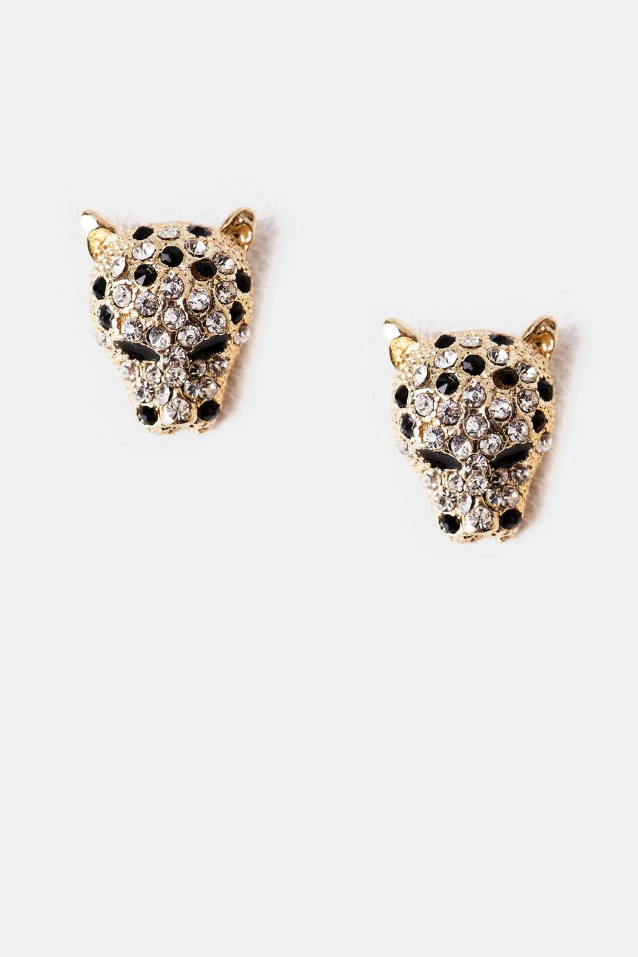 Crystal Leopard Studs