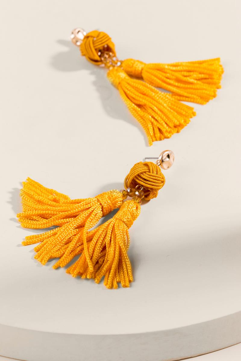 Jayden Double Tassel Drop Earrings-  musta-clalternate