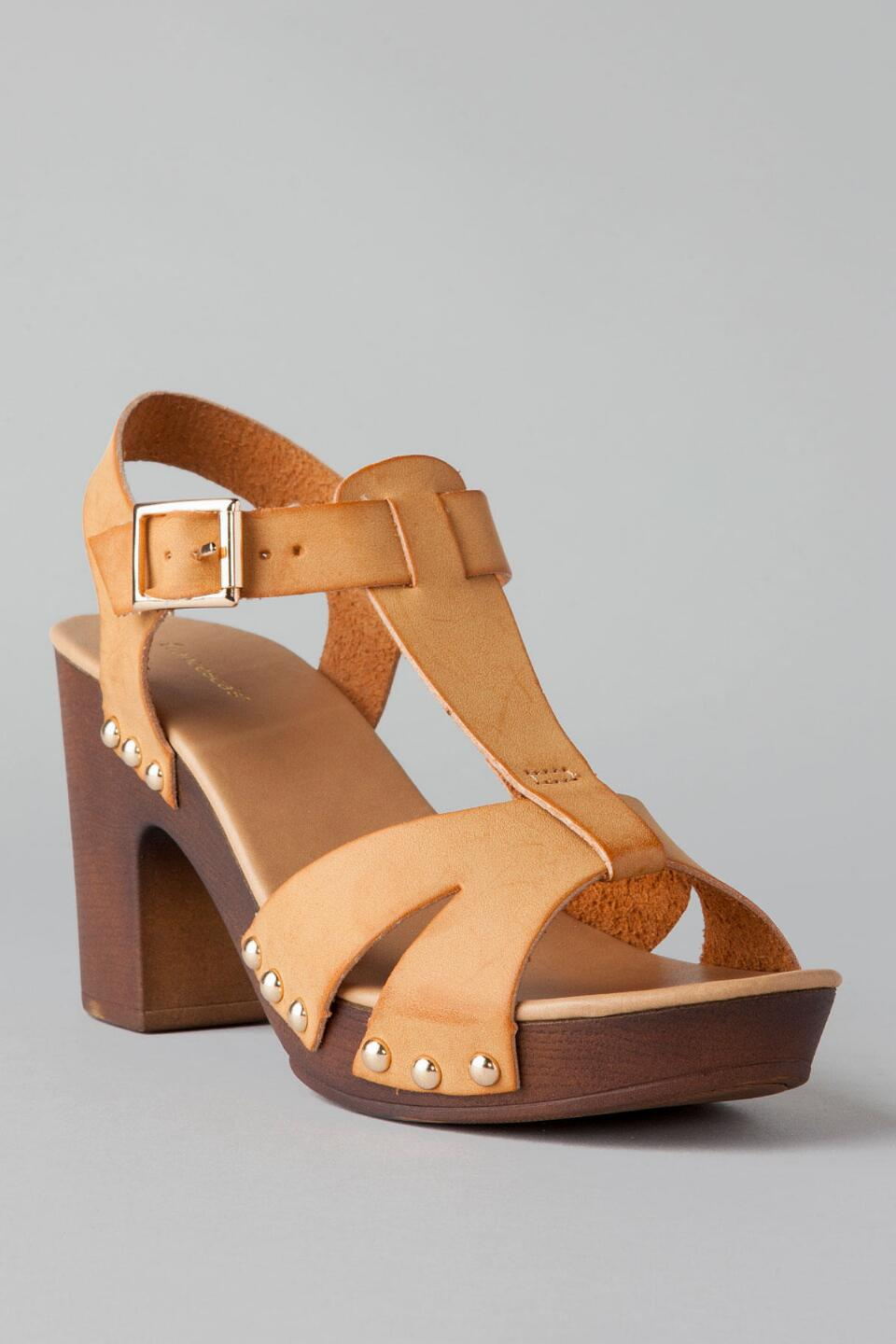 Santa Barbara Peep Toe Heel-  tan-cl