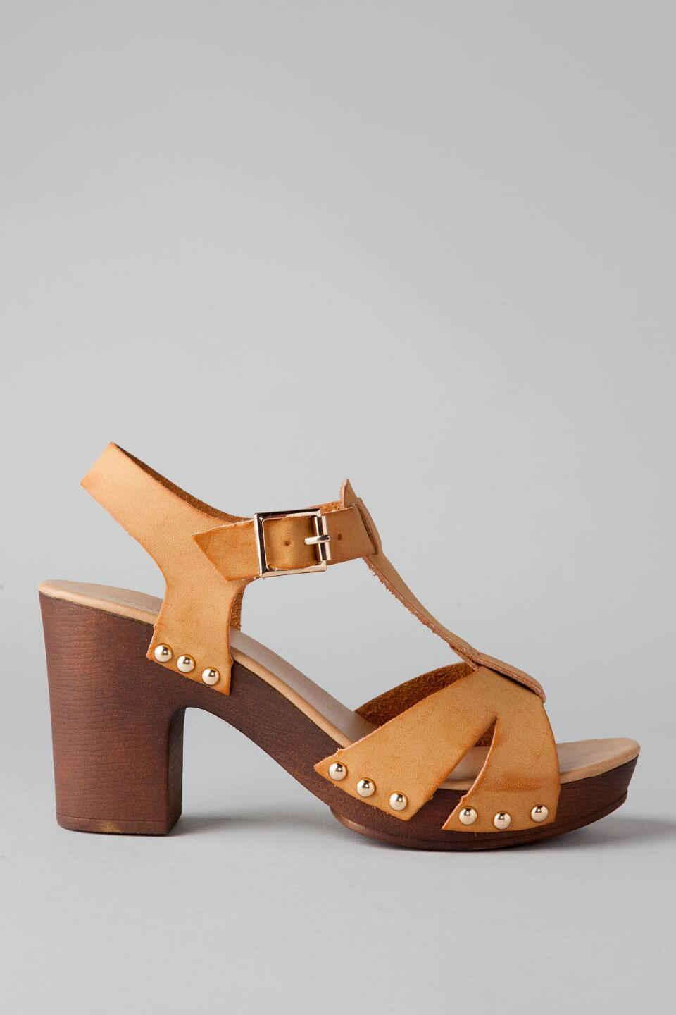 Santa Barbara Peep Toe Heel-  tan-clright
