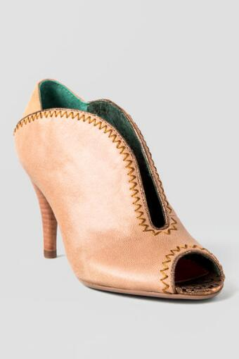 Poetic License Shoes, All or Nothing Bootie in Nude