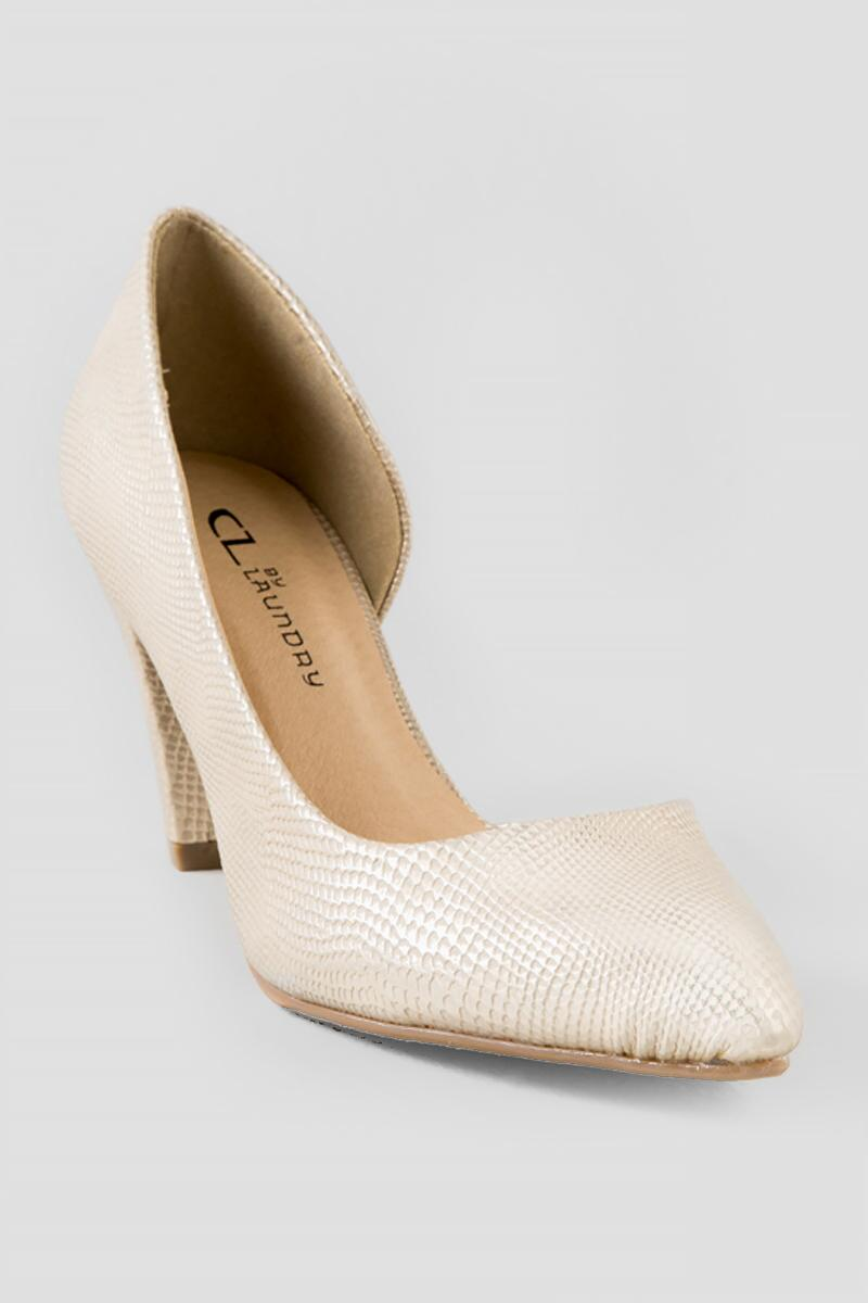9ccde74dd04 Chinese Laundry Shoes, Angelina Snakeskin D'Orsay Pump in Gold ...