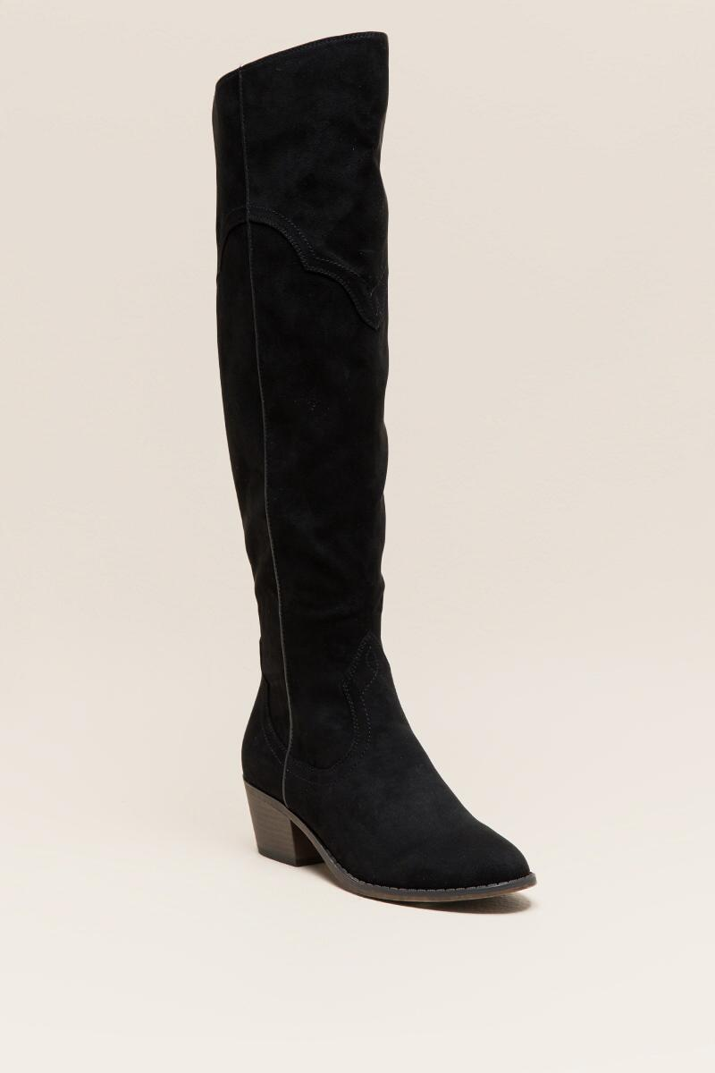 Fergalicious Bata Over the Knee Boot-  blk-cl
