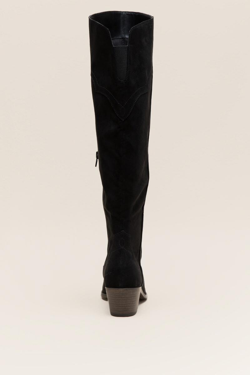 Fergalicious Bata Over the Knee Boot-  blk-clback