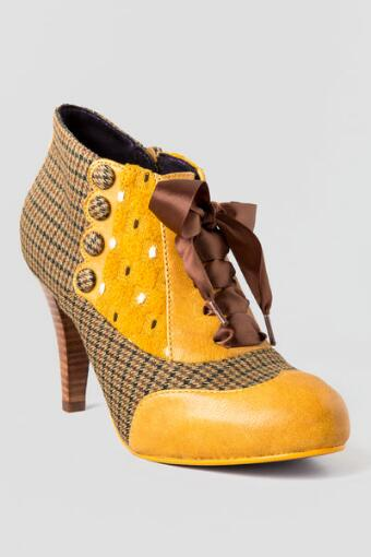 Poetic License Shoes, Betsey's Buttons Oxford Heel in Yellow