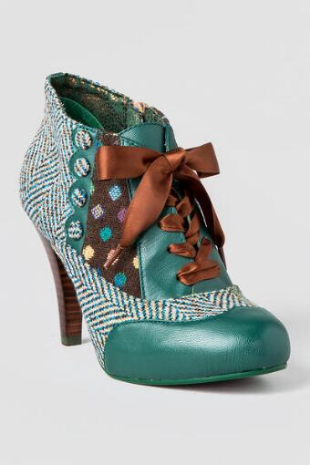 Poetic License Shoes, Betsey's Buttons Oxford Heel in Teal