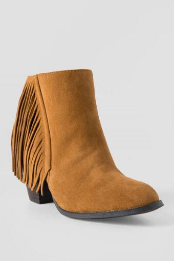 Betty Fringe Heeled Bootie