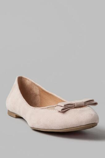 Beverlie Bow Flat in Nude