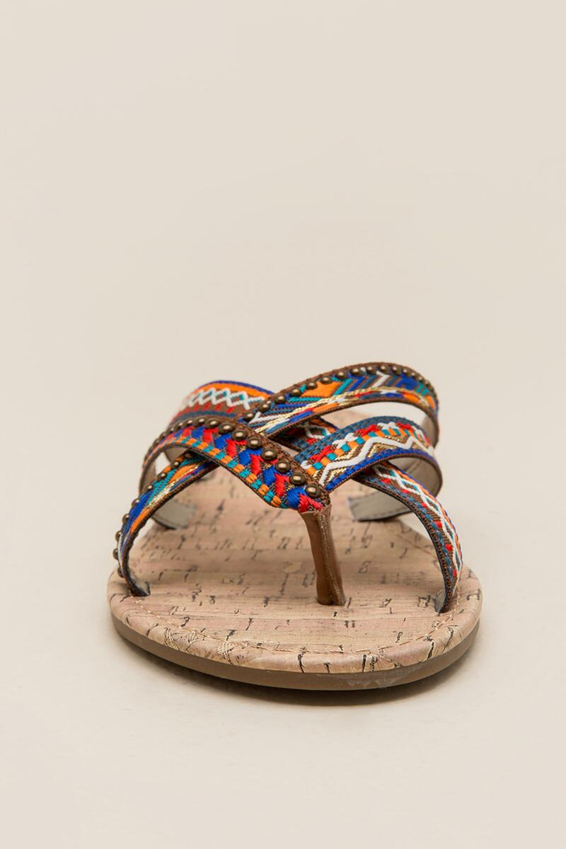 Circus by Sam Edelman Brooke Embroidered Thong Sandal-  cognc-clfront