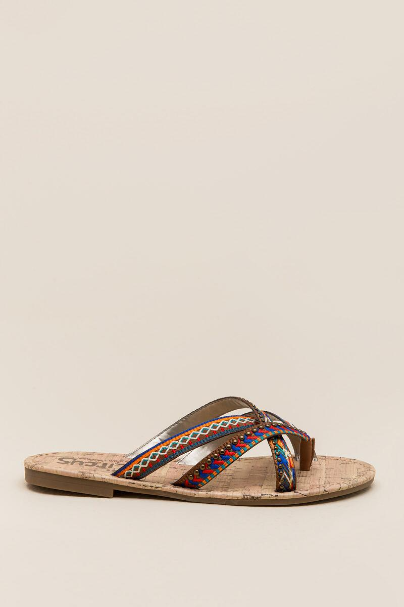 Circus by Sam Edelman Brooke Embroidered Thong Sandal-  cognc-clright
