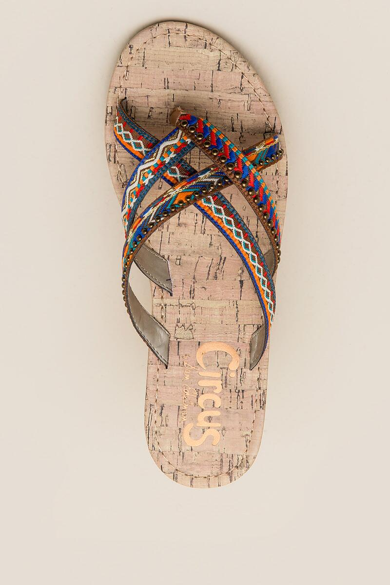 Circus by Sam Edelman Brooke Embroidered Thong Sandal-  cognc-cltop