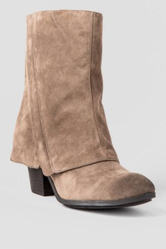 Carly Foldover Bootie in Taupe