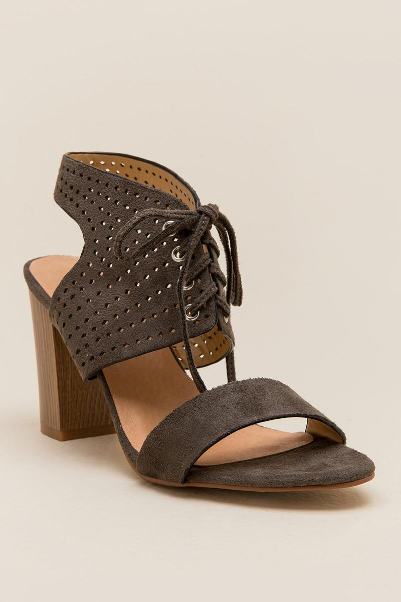 Restricted Carolynn Lace Up Block Heel