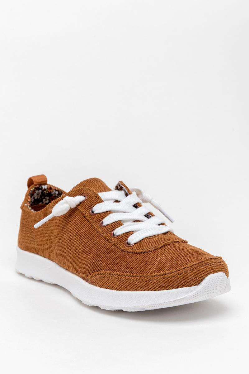 Very G Cody Corduroy Sneaker-  tan-cl