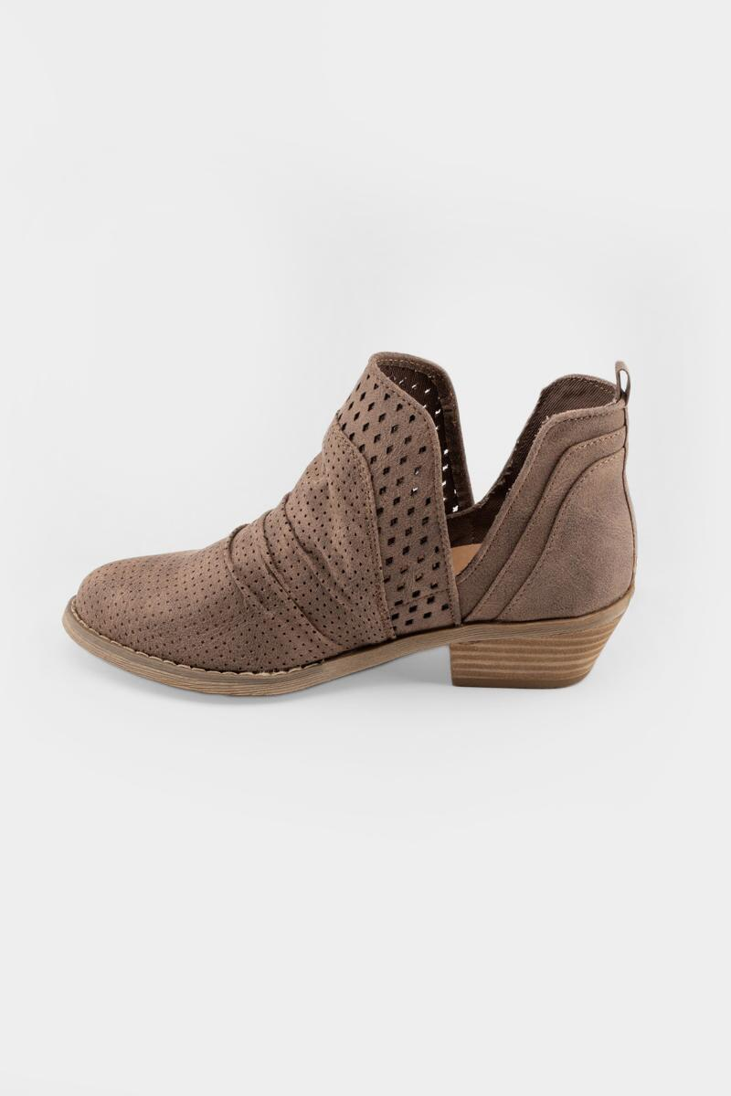 Report Delores Double Perforated Ankle Boot- Taupe 4
