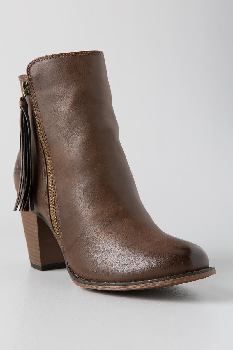 Dirty Laundry, Dorsey Tassel Zip Bootie-  taup-cl