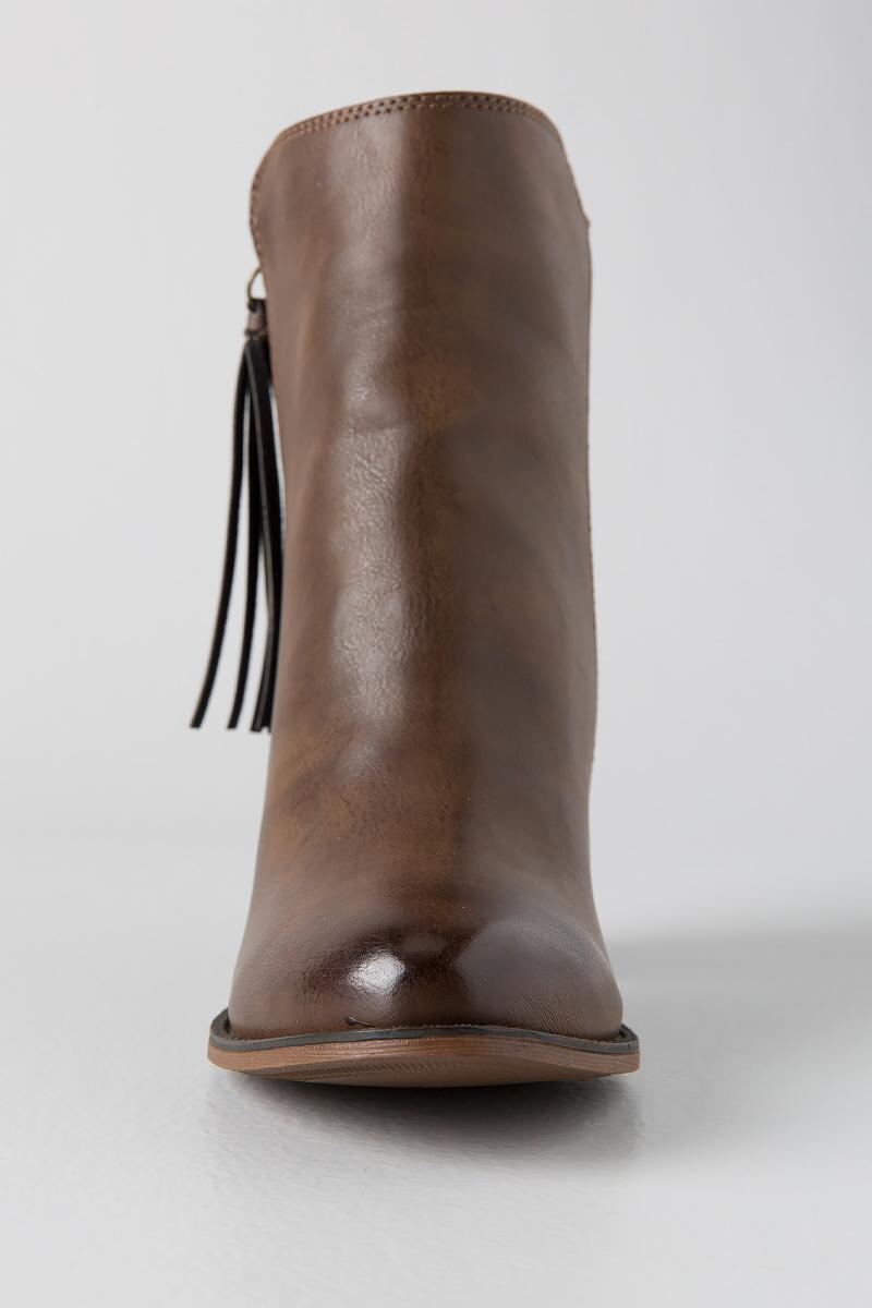 Dirty Laundry, Dorsey Tassel Zip Bootie-  taup-clfront