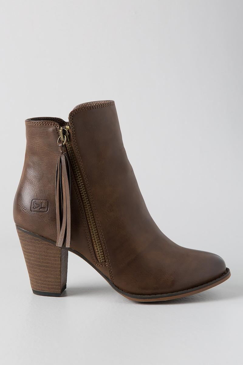 Dirty Laundry, Dorsey Tassel Zip Bootie-  taup-clright